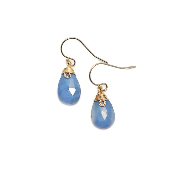 Blue Opal And Gold Fill Earrings