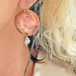 Champagne Pearl And Copper Earrings