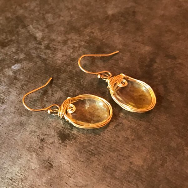 Citrine And Gold Fill Earrings