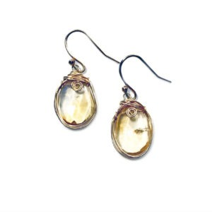 Closeup Citrine And Gold Fill Earrings