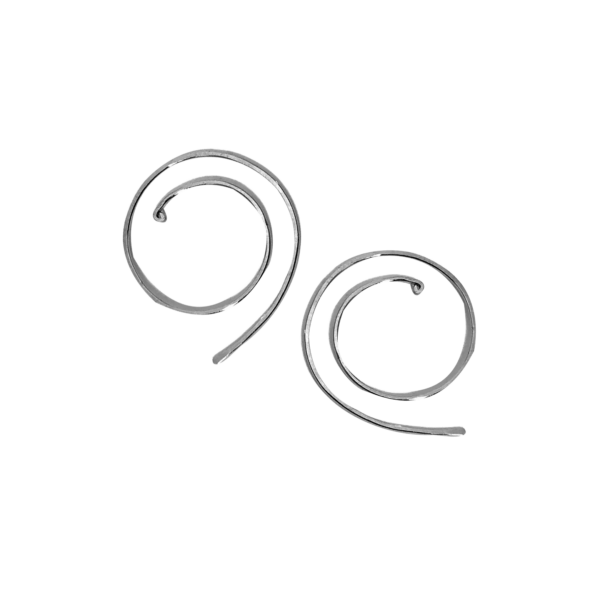Spiral Sterling Silver Earrings
