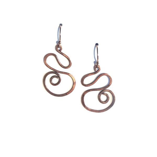 Copper Wave Earrings