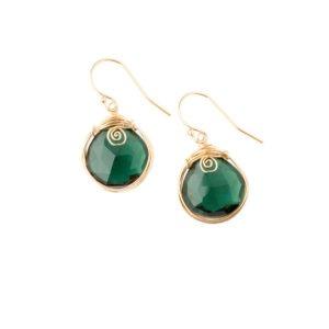 Green Quartz And Gold Fill Earrings