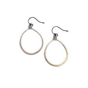 Medium Oxidized Bronze Hoop Earrings
