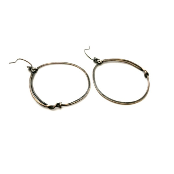 Oxidized Bronze Hoop Earrings