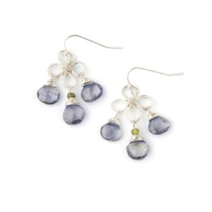 Iolite And Sterling Silver Earrings