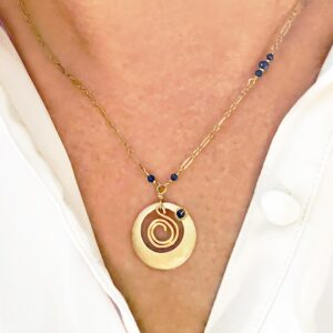 Lapis Lazuli And Gold Fill Necklace