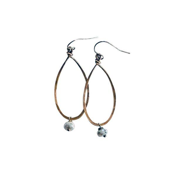 Silverite And Mixed Metal Hoop Earrings