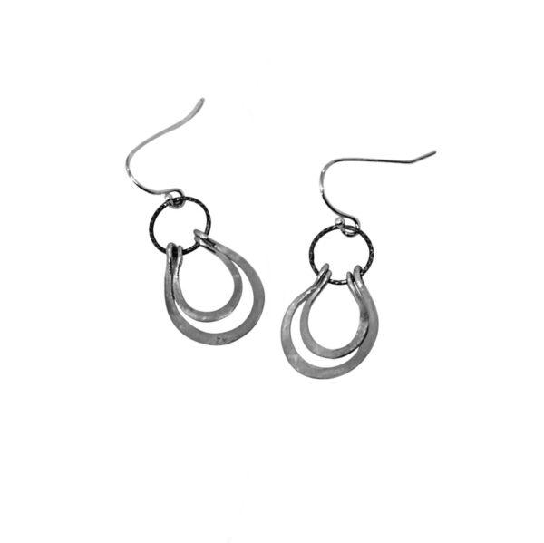 Sterling Silver Petal Earrings
