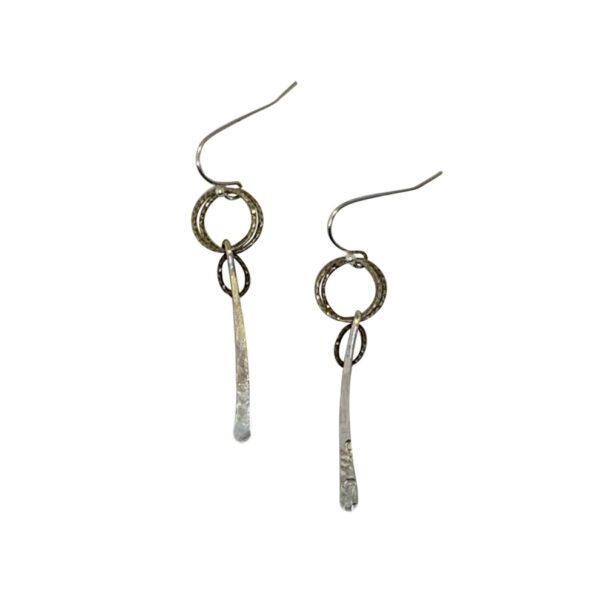 "Sterling Silver Textured ""Stix"" Earrings"