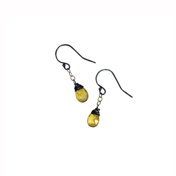Citrine And Sterling Silver Drop Earrings
