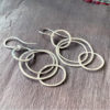 Fine Silver Hoop Earrings