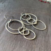 Fine Silver Asymmetrical Hoop Earrings