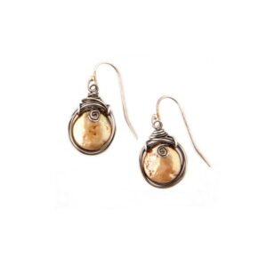 Coin Pearl And Sterling Silver Earrings