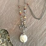 Coin Pearl And Sterling Silver Toggle Necklace