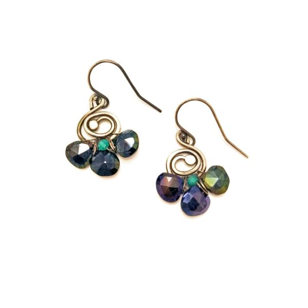 Spinel And Sterling Silver Earrings