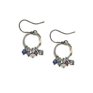 Labradorite And Sterling Silver Hoop Earrings