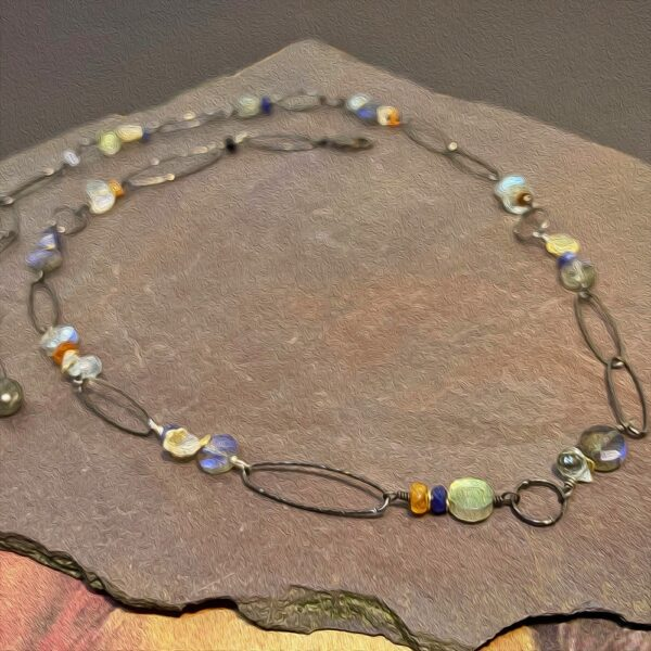 Sterling Silver Northern lights necklace