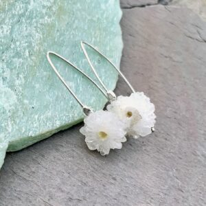 Solar Quartz And Sterling Silver Earrings