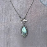 Labradorite And Sterling Silver Toggle Necklace