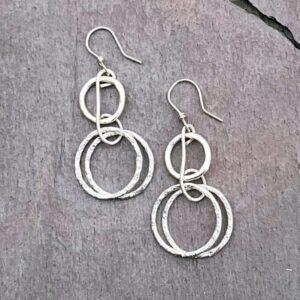 Sterling Silver Dancing Hoop Earrings
